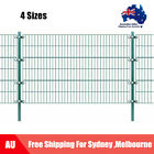 4 Sizes Fence Panel Post Garden Barrier Mesh Fencing Security Iron Green Au W8j5