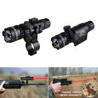 Hunting 635nm Green/Red Laser Sight Scope Rial Gun Mount Rail For Airsoft Rifle