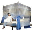 Luxury bed canopy mosquito net with 4 corner frames landscape for princess bed image