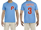 Bryce Harper Philadelphia Phillies #3 MLB Jersey Style Men's Graphic T Shirt