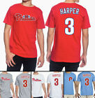 Bryce Harper Philadelphia Phillies #3 MLB Jersey Style Men's Graphic T Shirt on Ebay