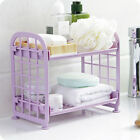 Внешний вид - Two Layer Rack Bathroom Desktop Makeup Organizer Display Shelf Kitchen Supply BS