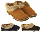Womens Coolers Faux Suede Winter Warm Faux Fur Lined Slippers Size 4 5 6 7 8