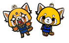 Aggretsuko necklace keychain charm anime cute animation red panda heavy metal