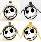 Nightmare Before Christmas Cabochon Glass Chain Pendant Necklace Jewelry #7923