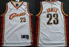 New Men's Cleveland Cavaliers 23# LeBron James Basketball jersey Mesh White on eBay