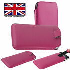 PU Leather Slim Pull Tab Phone Case Cover Slip Sleeve Pouch For Motorola Moto G7