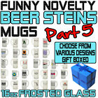 Funny Beer Stein Frosted Glass Novelty Pint 16oz Birthday Gift - SUPER BG5
