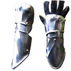 Pair of half gauntlets Medieval Warrior stainless steel Armor Larp Ren Faire