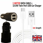 Car Fast Dual Charger PLUS Type C Charging Cable For Huawei Nova 4