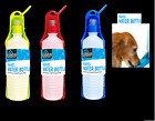 PET TRAVEL WATER BOTTLE Portable Fordable Dog Cat Drink Feeding Bowl