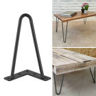 """Solid Hairpin Legs Set of 4 DIY Black Iron Table Chair Legs 8"""" 12"""" 16"""" 28"""" Black for sale  USA"""
