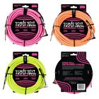Ernie Ball Neon / Fluorescent Fabric Instrument Cable 10 ft - choice of Colours