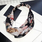 Women Girl Boho Bohemia Print Cross Bandana Hair Band Headband Wrap Scarf shan