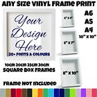 Vinyl Sticker Picture for Box Frame Any Colour Personalised Custom Art Money Siz