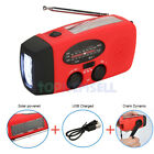 2Pack Solar Hand Crank Dynamo AM/FM/WB Weather Radio 3LED Torch Survival Charger