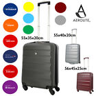 Aerolite Léger ABS COQUE Rigide Spinner 4 Roues Main Cabine Valise Bagage