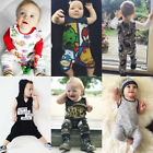 Newborn Baby Boy Girl Infant Romper Playsuit Bodysuit Cartoon Clothes Outfits US