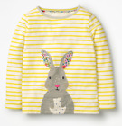 Mini Boden girls top tshirt  7 8 9 10 years animal applique horse bunny RRP $34