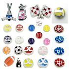 Buy 3,Get 2! SPORTS Floating Charms BASEBALL HOCKEY BOWLING GOLF VOLLEYBALL