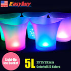 Colorful LED Light Ice Bucket Champagne Wine Drinks Beer Ice Cooler Bar Party 5L