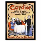 Advert Wine Cordier Bordeaux Vins Sommelier Got 12X16 Inch Framed Art Print