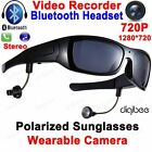Bluetooth Smart Polarized Sunglasses with HD Camera Camcorder Headset for Men