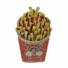 French Fries Chips Clutch Women Crystal Evening Bags Wedding Minaudiere Handbag image