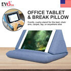 Plush Wedge Pillow Tablet Holder Angled Cushion Lap Stand For iPad Book Reader