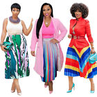 New Women Fashion Spring&Summer Digital Print Casual Party Club Pleated Skirts