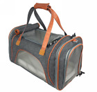 Luxury Airline Approved Soft-Sided Comfort Pet Dog Cat Travel Carrier Tote Bag