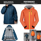 New Hooded Mens Ski Snowboard Padded Quilted Jacket Coats Parka Skiing Clothing