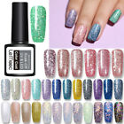 LEMOOC 8ml Smalto Gel UV per Unghie Nail UV Gel Polish Paillettes Glitterati