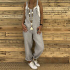 UK Women Dungarees Jumpsuits Pants Ladies Loose Playsuit Overalls Baggy Trousers