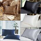 Smooth Silk~y Satin Room Bedding Pillow Case Set of Pillowcases Queen Size image