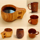 Wooden Cup Primitive Handmade Natural Wood Coffee Tea Beer Juice Milk Mug Cup US