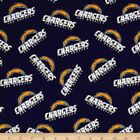 """NFL - Los Angeles Chargers Cotton Fabric 58""""- 60"""" $4.95 USD on eBay"""