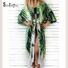 Cotton Beach Cover up Print Bathing suit cover up Swimwear Women Robe