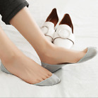 6 Pack Womens Cotton Nonslip Solid Ultra Invisible No Show Loafer Boat Socks 5-9