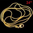 Wholesale 16-30 Inch 18K Yellow Gold plated Filled Jewelry Snake Chain Necklace