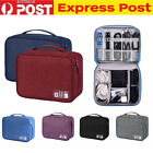 Waterproof Travel Storage Bag USB Charger  Case Data Cable Electronics Organizer
