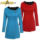 Hot Original Star Trek Uniform Serie Cosplay Women' Costume Red&Blue Fancy Dress on eBay