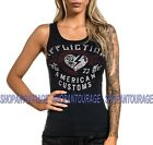 Affliction Deville AW19845 New Black Graphic Fashion Sport Tank Top For Women