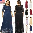 Kyпить US Plus Size Women Maxi Cocktail Party Wedding Evening Formal Lace Long Dresses на еВаy.соm