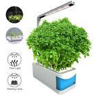 Indoor Hydroponics Gardening Kit LED Desk Flower Grow Light W/ 2 Gardening Pots