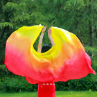 Women Belly Dance Accessories Gradient Color 100 Silk Veil Shawl Gauze Scarf