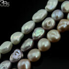 Natural Jewelry Freeform Reborn Keshi Freshwater Pearl Beads 8-10mm Strand 15""