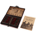 2x Vintage Chinese Wooden Bead Arithmetic Abacus 5 Digits With Storage Box