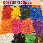 100/150/200 Sets T5 Plastic Resin Multi Color Snaps Fasteners Press Stub Poppers