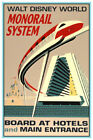 DISNEY WORLD MONORAIL - COLLECTOR'S POSTER 4 DIFFERENT SIZES  ( B2G1 FREE!! )